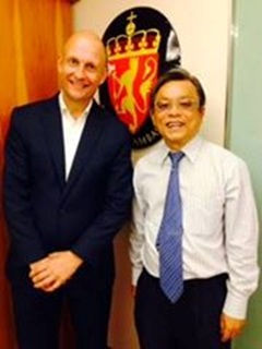 with ambassador